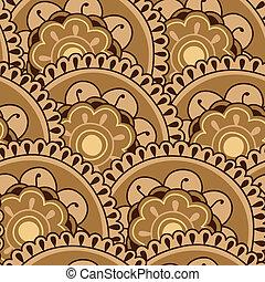 Floral Mandala Seamless - Sepia Mandala Seamless Pattern...