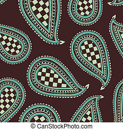 Paisley Pattern - Hand drawn Seamless Paisley Pattern