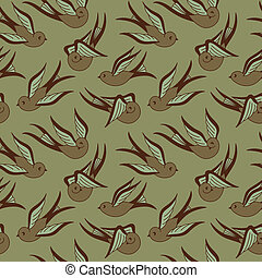 Songbird Seamless Pattern