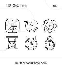 Vector Icon Style Illustration of Time and clocks.