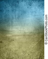 bleu, arrière-plan brun