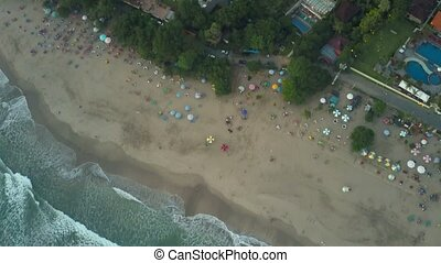 Aerial view on the beach. Bali. Ocean