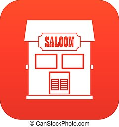Western saloon icon digital red