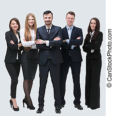 group portrait of successful business team - concept of...