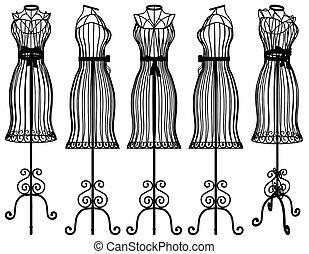 Mannequin Clothes Hanger Vect... - Mannequin Clothes Hanger...
