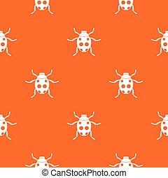 Ladybug pattern seamless