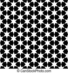 Seamless abstract star black and white wallpaper