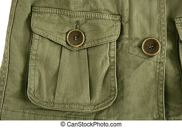 green jacket pocket militar inspired fashion detail - green...