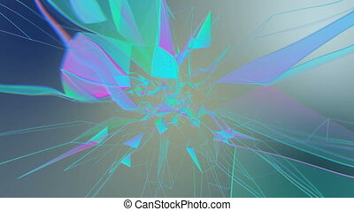Neural network activity.Abstract plexus background for...