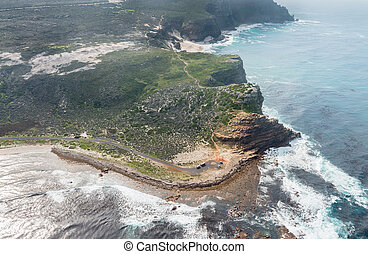 Cape of good hope (South Africa) aerial view shot from a...