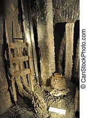 salt mine exhibition - musuem exposition in Salt mine...