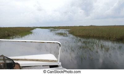 Airboat tour in Everglades National Park - On board airboat...