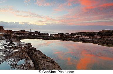 Sunrise at Wollongong Head Australia - Sunrise at Wollongong...