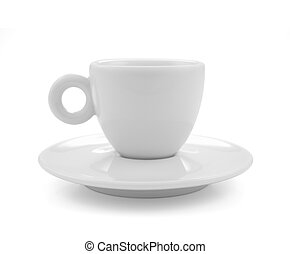Coffee,tea cup isolated on white background