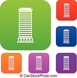 Column set collection - Column set icon in different colors...