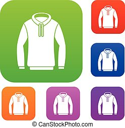 Hoody set collection - Hoody set icon in different colors...