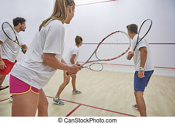 Squash is our favorite leisure activity