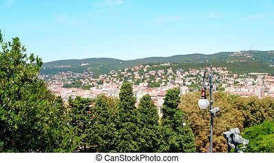 View to the city of Trieste, Italy - View to the city of...