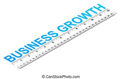 Business Growth Ruler - Ruler measuring business growth...