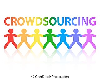 Crowdsourcing Paper People Rainbow - Crowdsourcing cut out...