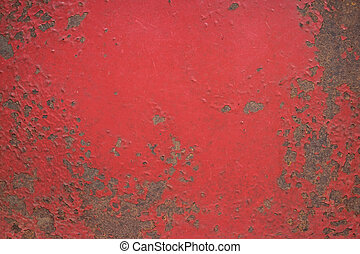 Chipped paint on iron surface
