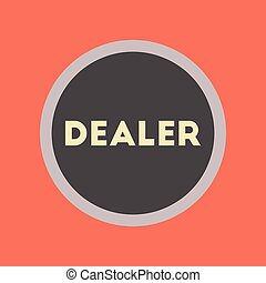 flat icon stylish background poker chip dealer - flat icon...