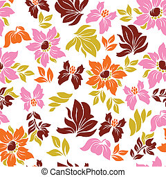 Aloha Flower Pattern - Seamless hawaiian flower pattern