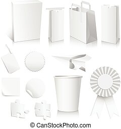 White Paper Collection - Collection of white, paper objects...