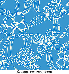 floral seamless pattern - Floral seamless pattern - white on...
