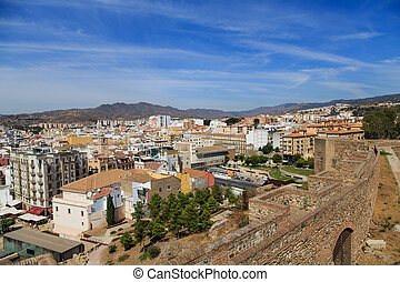 Malage Beyond Alcazaba - View of Malaga from Alcazaba