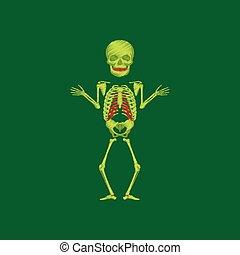 flat shading style icon human skeleton
