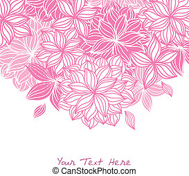 Doodle Floral Background Pink