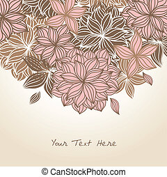 Doodle Floral Background Color