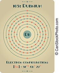 Element od Dubnium - Large and detailed atomic model of...