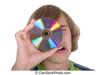 The teenager with an optical disk