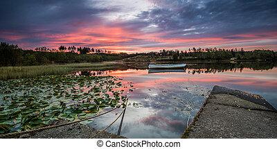 Loch Rusky at Dawn - Loch Rusky is a small freshwater loch...
