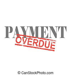 Payment Overdue Word Stamp