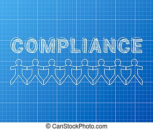 Compliance People Blueprint - Compliance hand drawn text and...