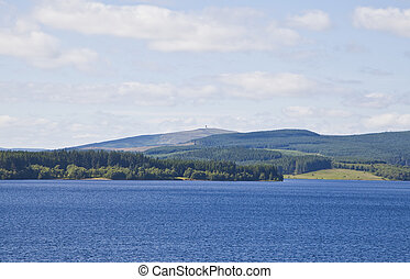Deadwater Fell In Northumberland - View of Deadwater Fell...