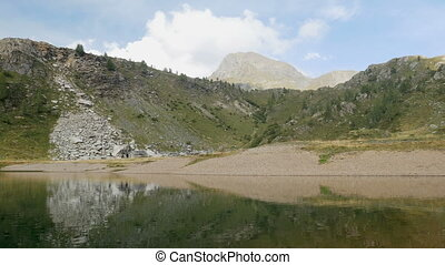 Small alpine lake on the Bergamo Alps, northern Italy