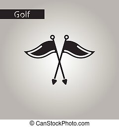 black and white style icon Golf flags