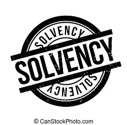 Solvency rubber stamp. Grunge design with dust scratches....