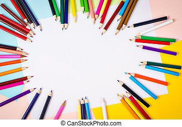 color pencils with empty space. - color pencils with empty...