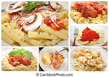 Pasta Dishes Collage