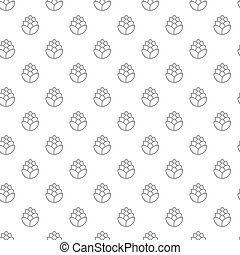 Unique digital hops seamless pattern with various icons and symbols on white background flat vector illustration