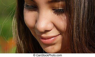 Timid Beautiful Teen