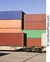 Cargo Containers waiting to be loaded