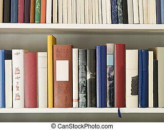 Bookshelf with several books