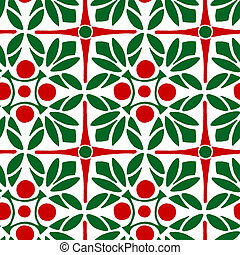 Mistletoe Christmas Repeat Pattern - Seamless Repeating...