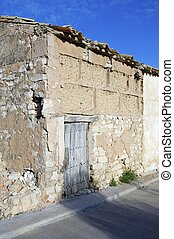 stone and mud house in a rural Spanish village